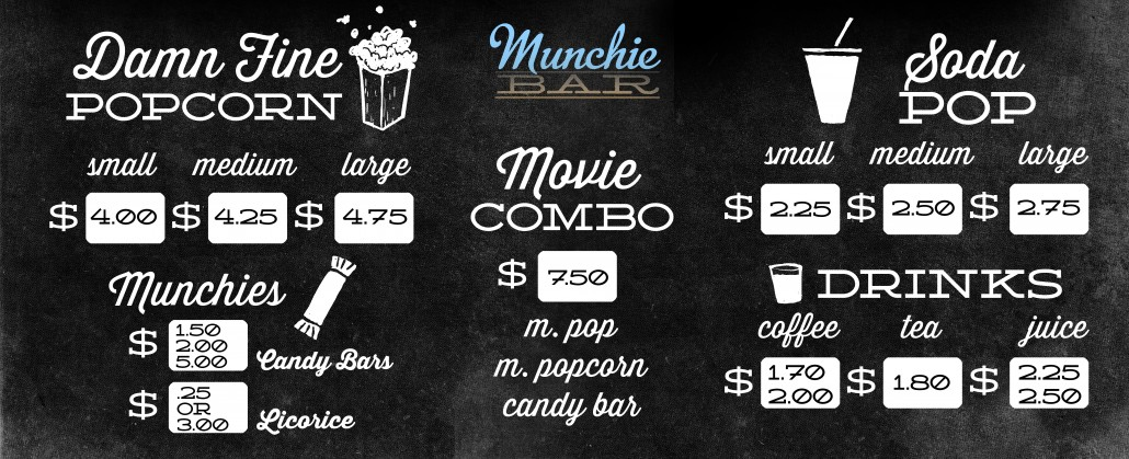 MUN Menu PriceList WEB