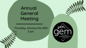 GEM Annual General Meeting @ Zoom
